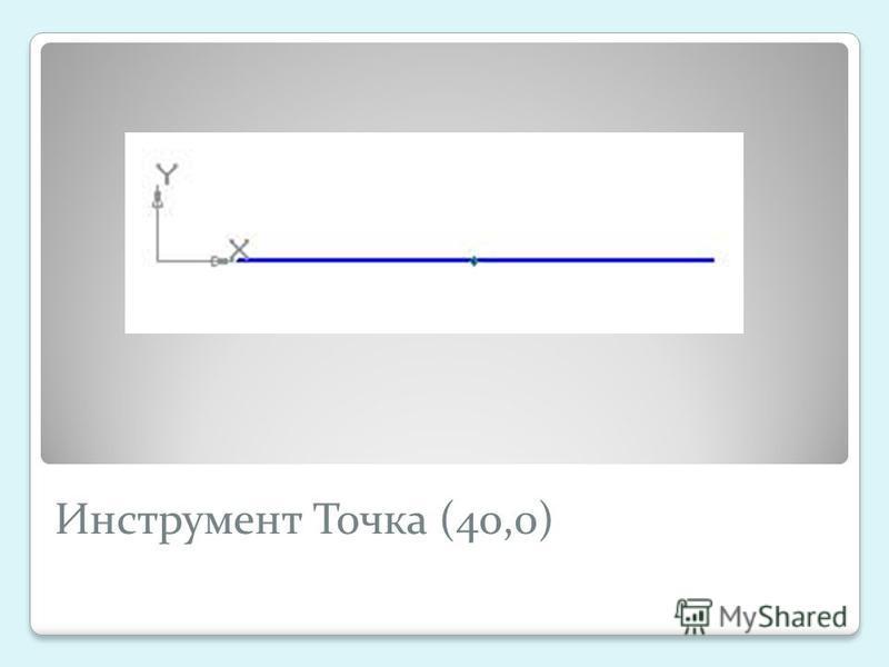 Инструмент Точка (40,0)