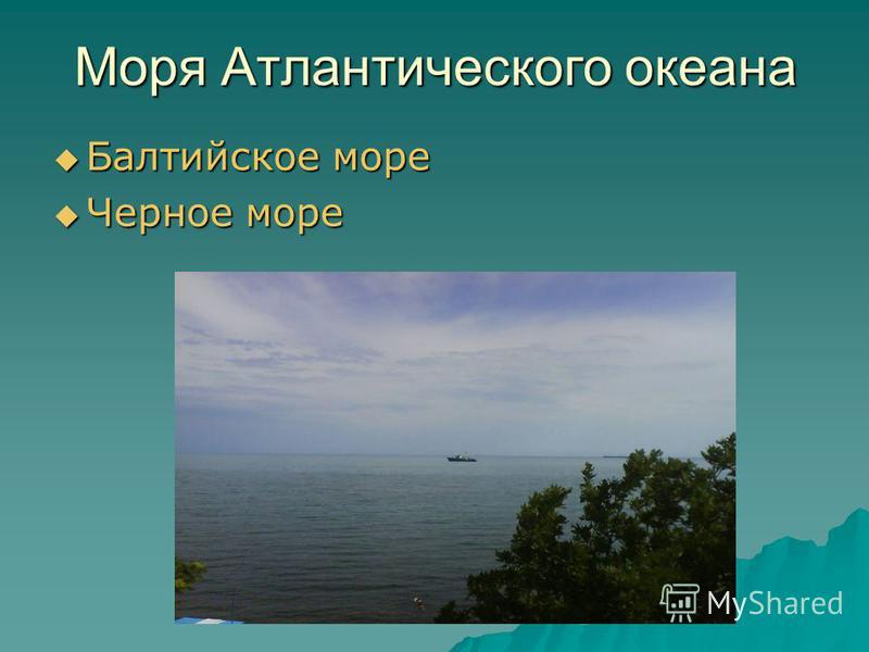 Моря Атлантического океана Балтийское море Балтийское море Черное море Черное море