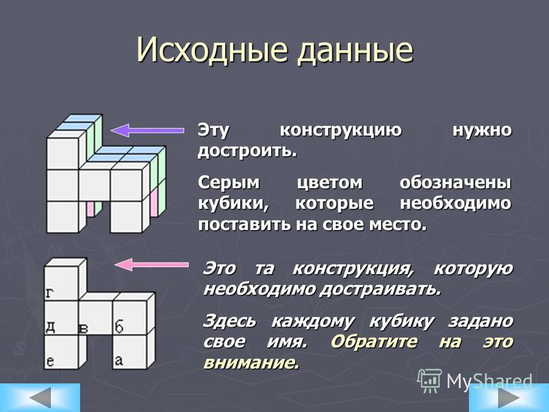 Необходимо построить следующую конструкцию