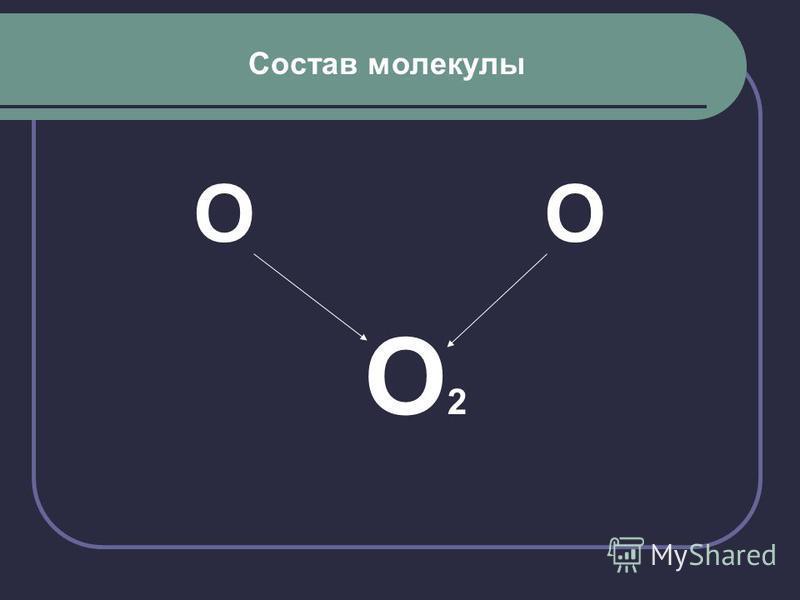 Состав молекулы О О О 2
