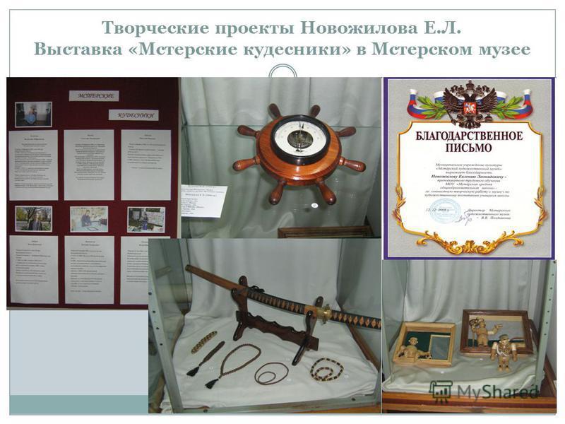 Творческие проекты Новожилова Е.Л. Выставка «Мстерские кудесники» в Мстерском музее