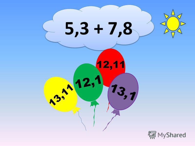 5,3 + 7,8 12,11 13,11 12,1 13,1