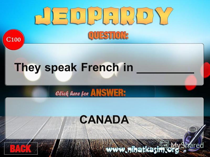 C100 They speak French in _________