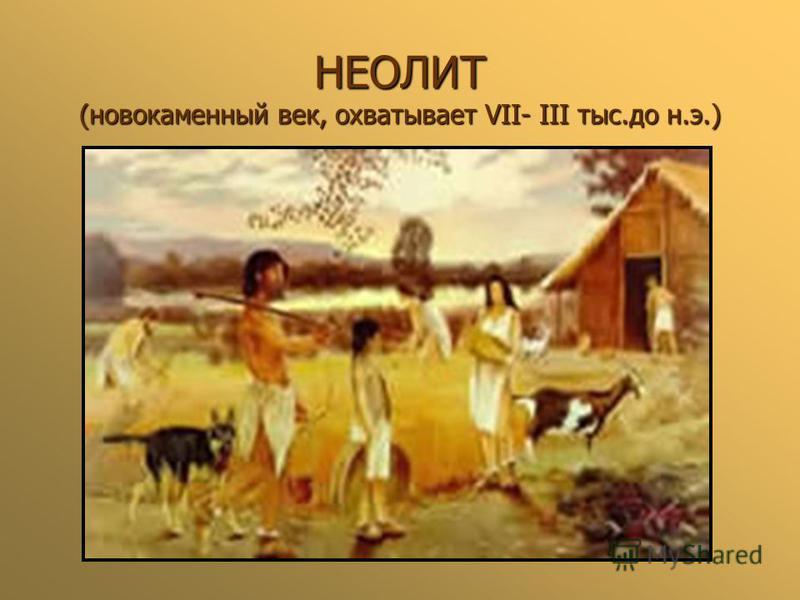 НЕОЛИТ (новокаменный век, охватывает VII- III тыс.до н.э.)