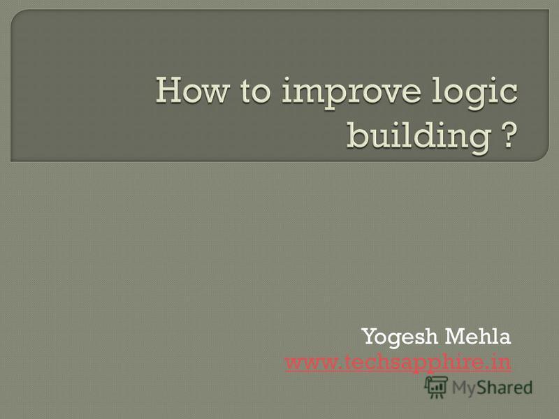 Yogesh Mehla www.techsapphire.in
