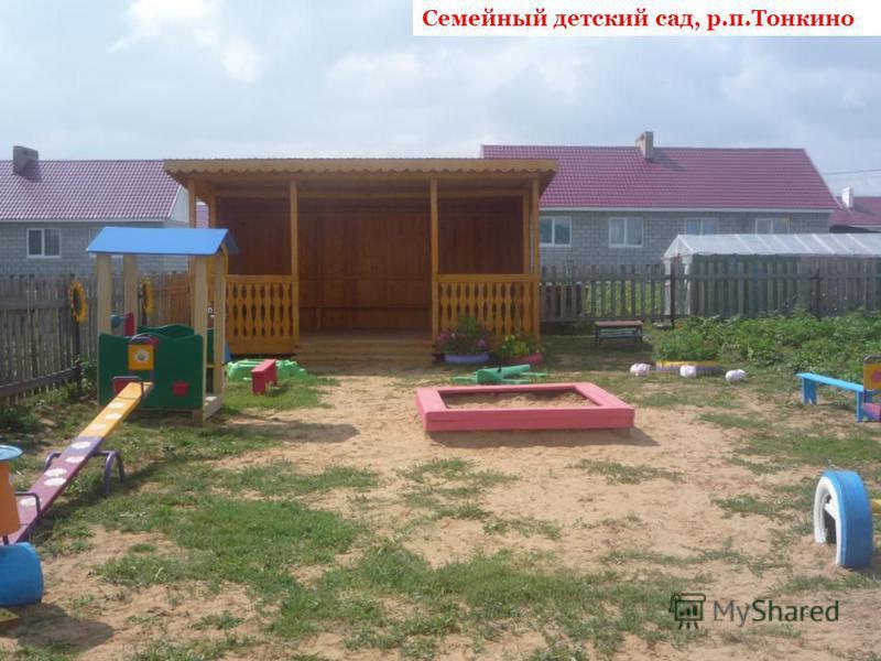 Семейный детский сад, р.п.Тонкино