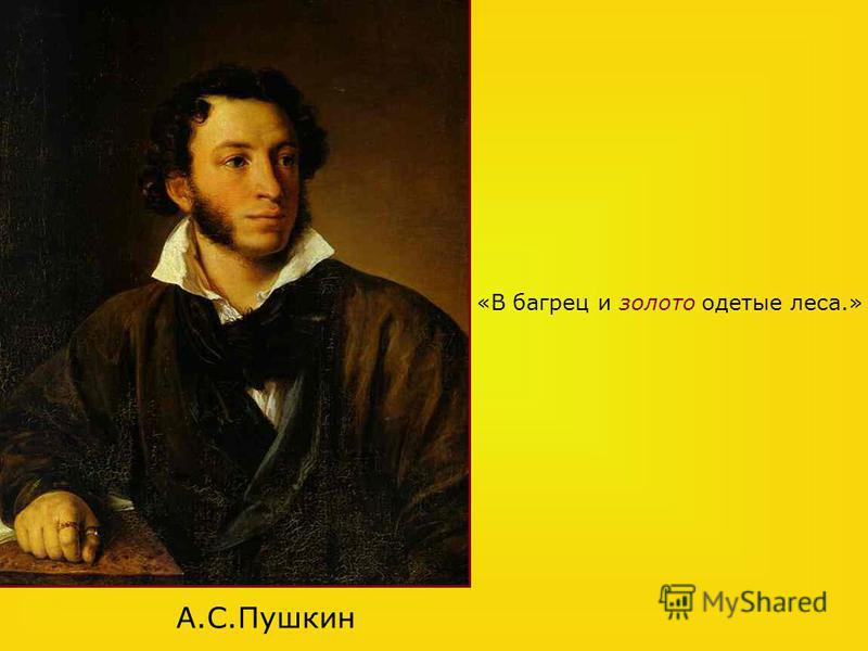 А.С.Пушкин «В багрец и золото одетые леса.»