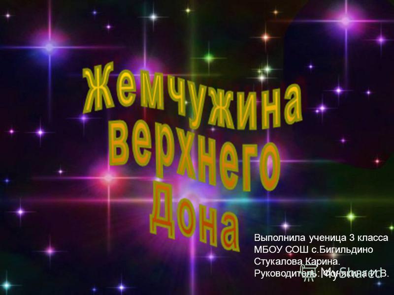 Выполнила ученица 3 класса МБОУ СОШ с.Бигильдино Стукалова Карина. Руководитель: Фонякина И.В.