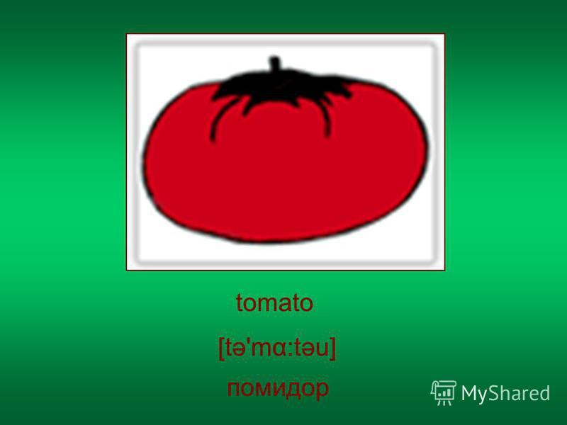 tomato помидор [tə'mα:təu]