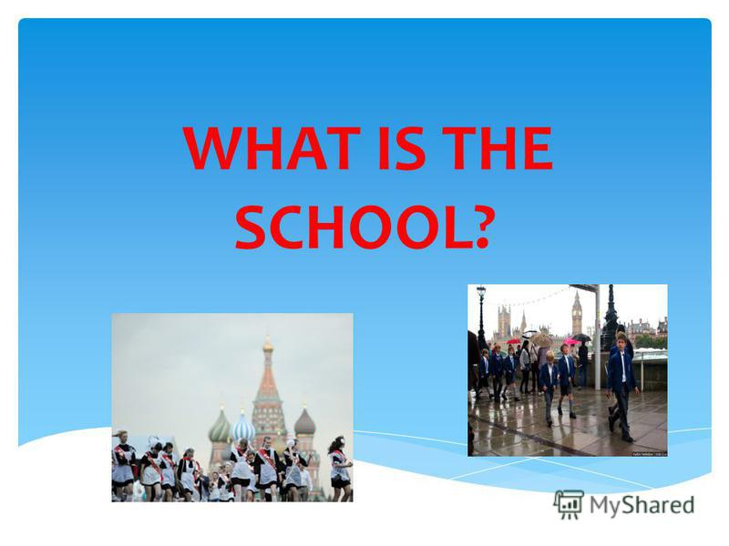 WHAT IS THE SCHOOL?
