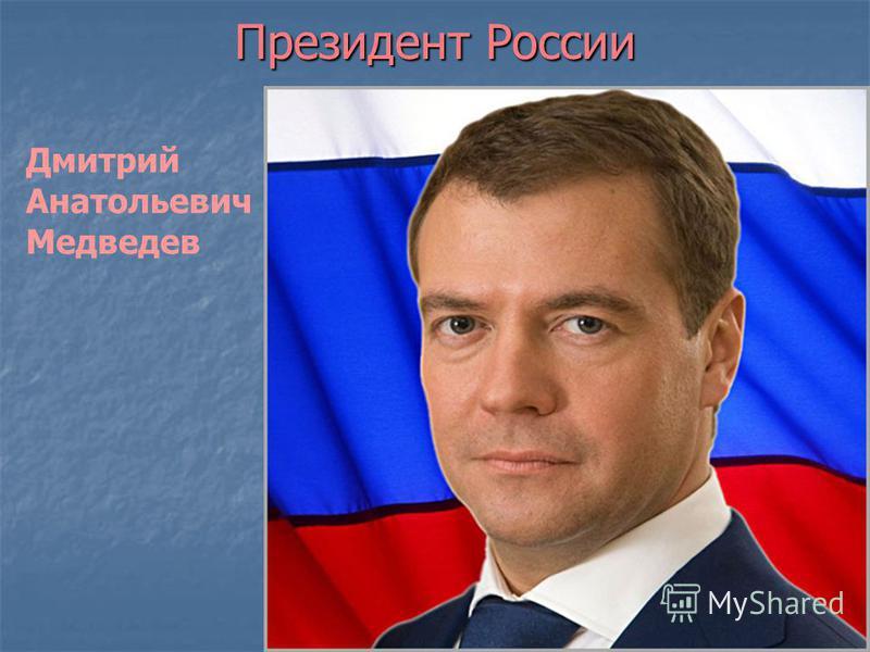 Президент России Дмитрий Анатольевич Медведев