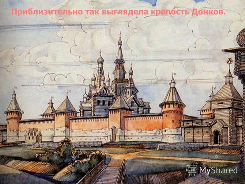 Приблизительно так выглядела крепость Донков.