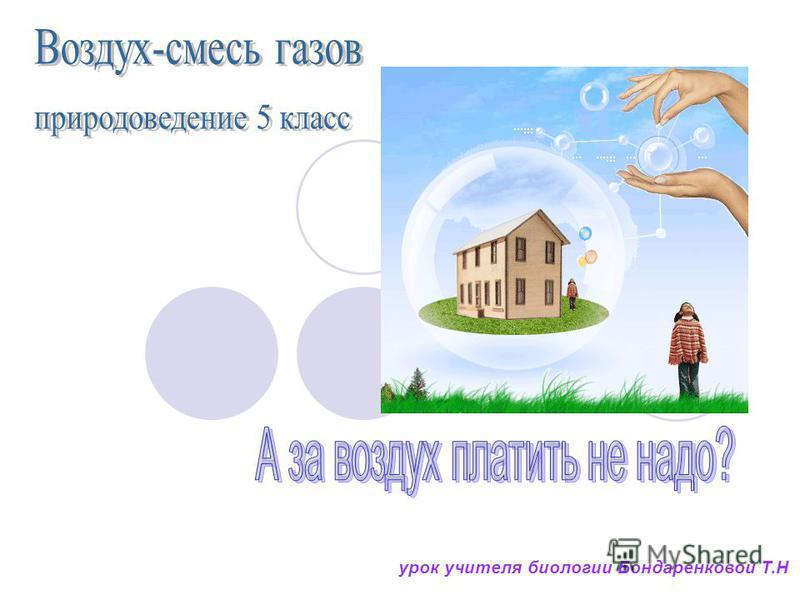 урок учителя биологии Бондаренковой Т.Н