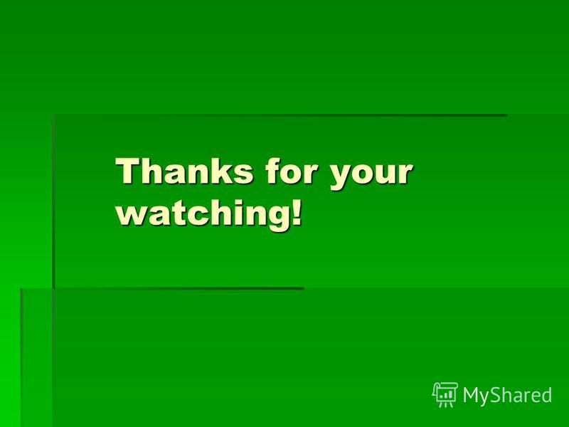 Thanks for your watching!