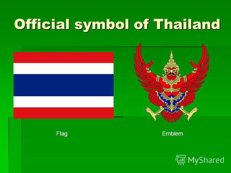 Official symbol of Thailand FlagEmblem