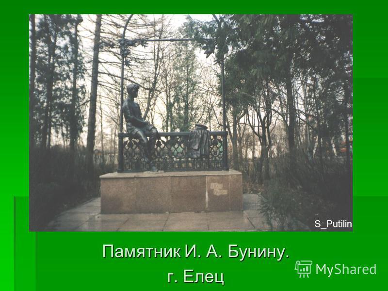 Памятник И. А. Бунину. г. Елец S_Putilin