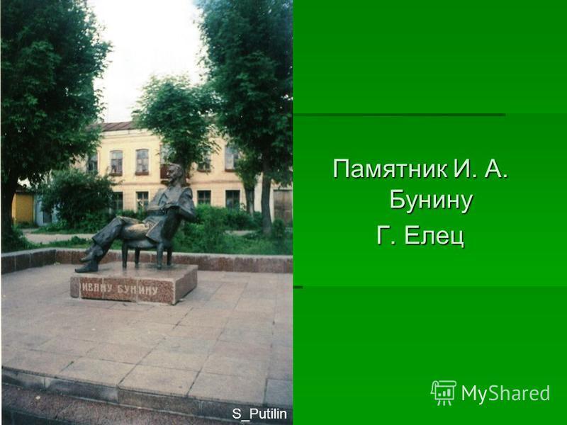 Памятник И. А. Бунину Г. Елец S_Putilin