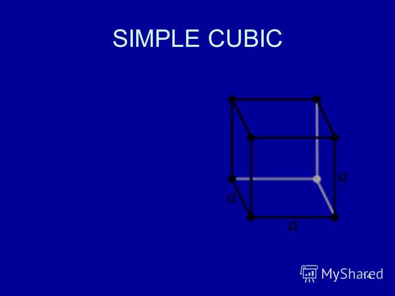 14 SIMPLE CUBIC