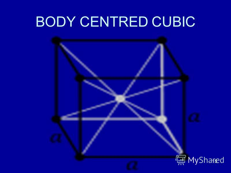 15 BODY CENTRED CUBIC