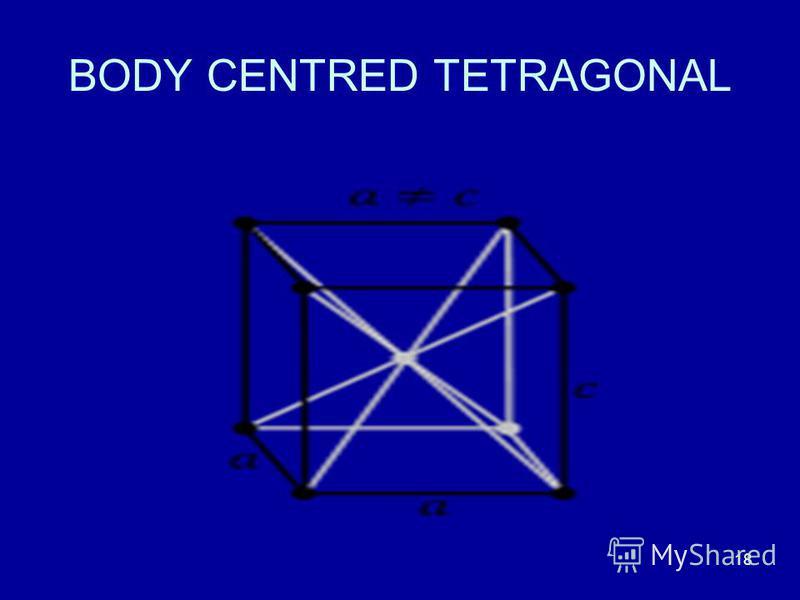 18 BODY CENTRED TETRAGONAL