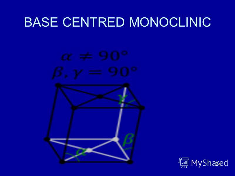 24 BASE CENTRED MONOCLINIC
