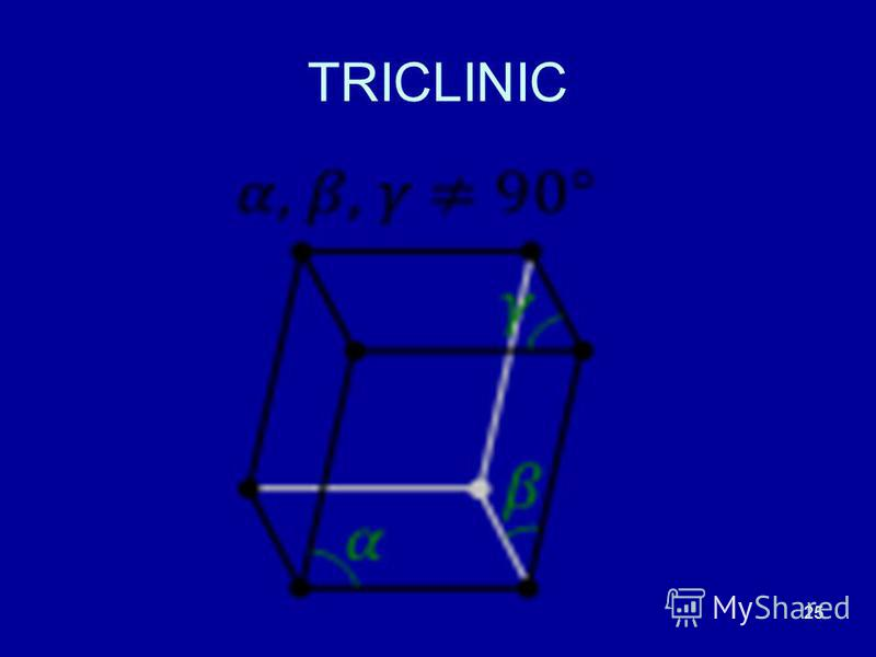 25 TRICLINIC