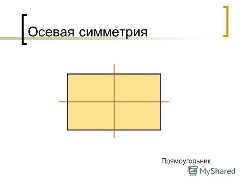 Осевая симметрия Прямоугольник