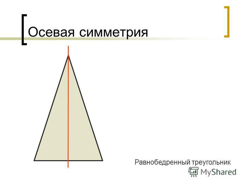 Осевая симметрия Равнобедренный треугольник