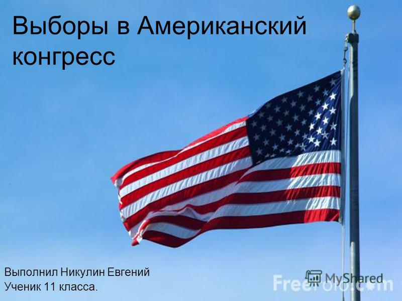 Выборы в Американский конгресс Выполнил Никулин Евгений Ученик 11 класса.