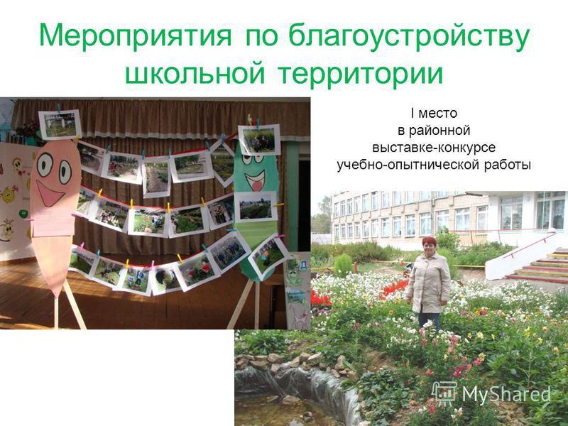 Мероприятия по благоустройству школьной территории 57 I место в районной выставке-конкурсе учебно-опытнической работы