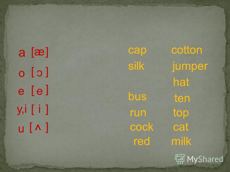 a [ [a e e ] ] ] ] o e [ y,i[i c u [ ^ ] milk hat top cat cotton jumper cap silk bus run cock ten red