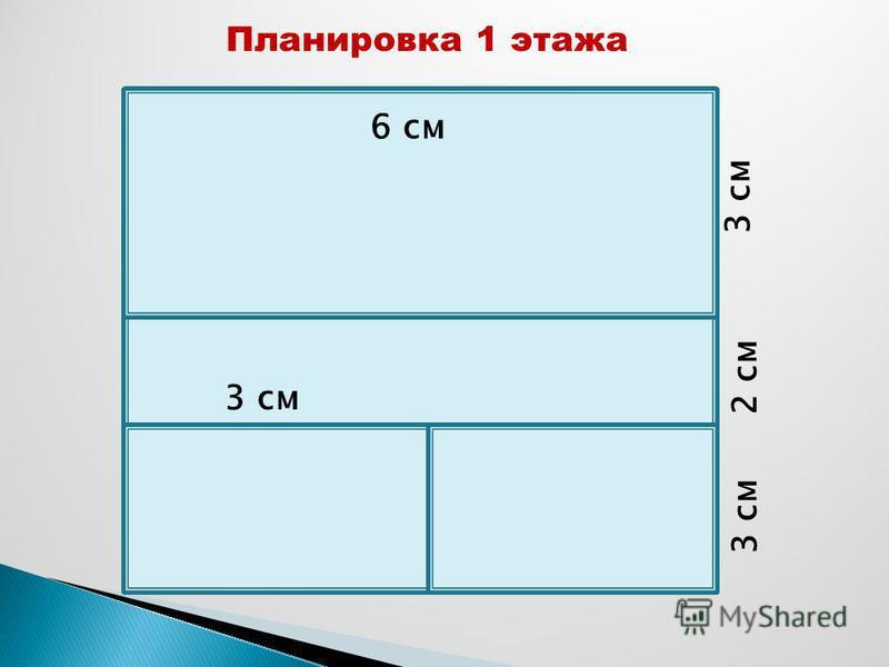 3 см 2 см 3 см 6 см Планировка 1 этажа