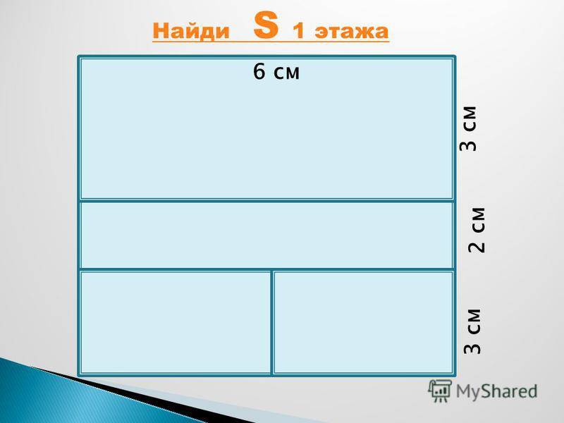 3 см 2 см 3 см 6 см Найди S 1 этажа