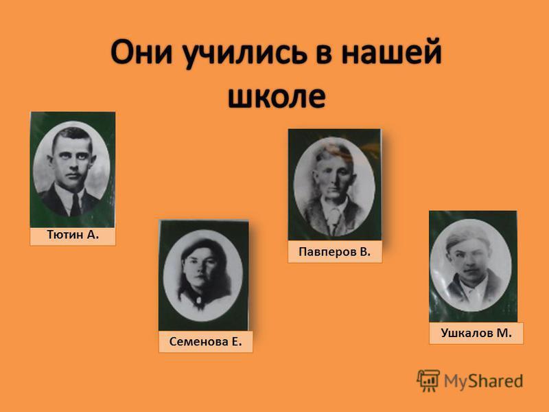 Тютин А. Павперов В. Семенова Е. Ушкалов М.