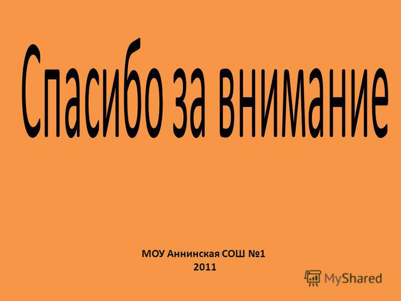 МОУ Аннинская СОШ 1 2011