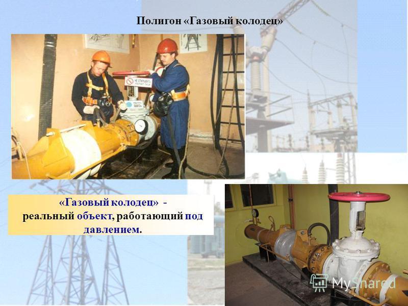 Полигон «Газовый колодец» «Газовый колодец» - реальный объект, работающий под давлением.