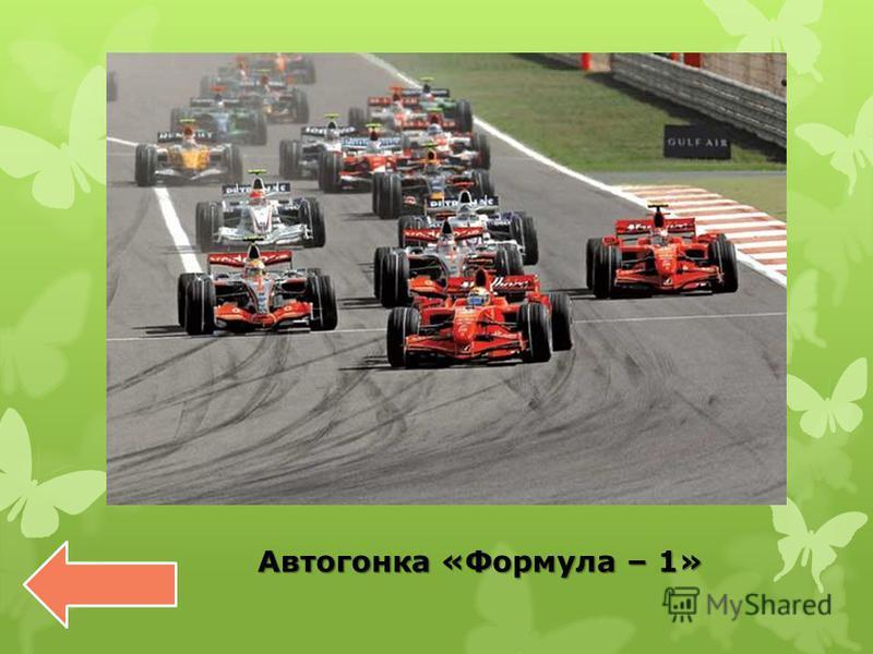 Автогонка «Формула – 1» Автогонка «Формула – 1»