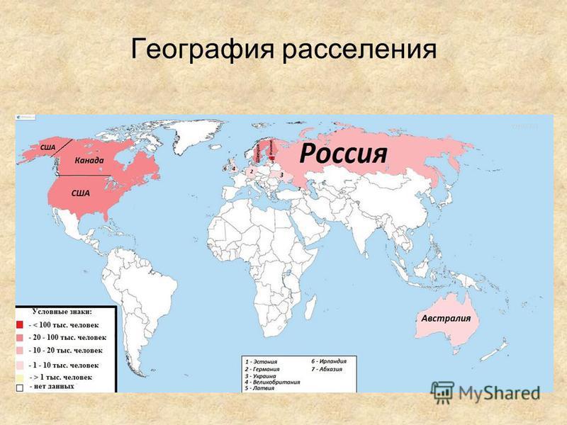 География расселения