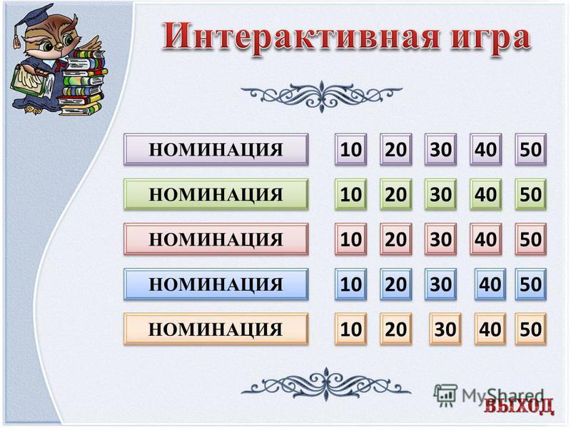 10 20 30 40 50 10 20 30 40 50 10 20 30 40 50 10 20 30 40 50 10 20 30 40 50 НОМИНАЦИЯ