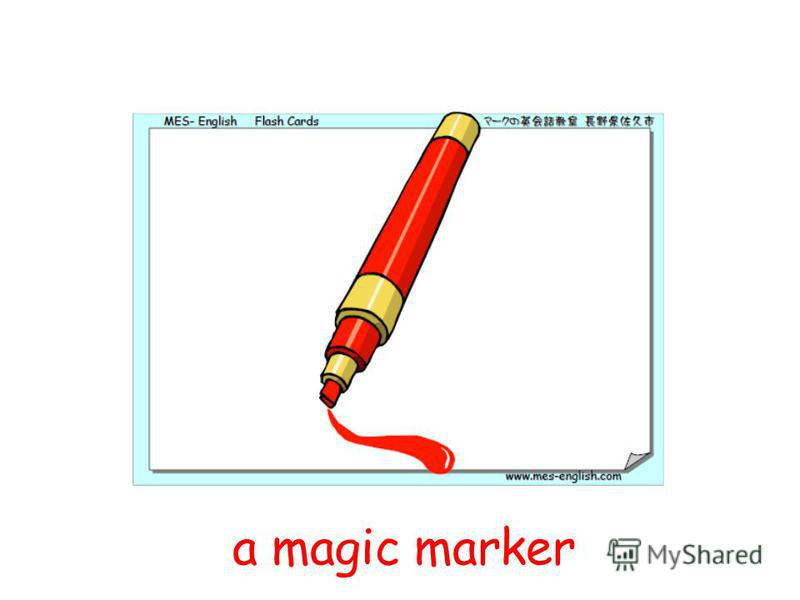 a magic marker