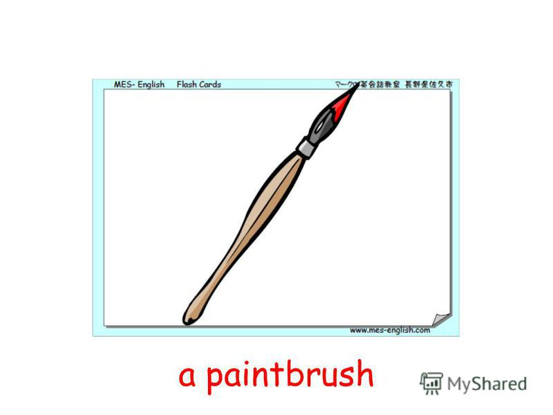 a paintbrush