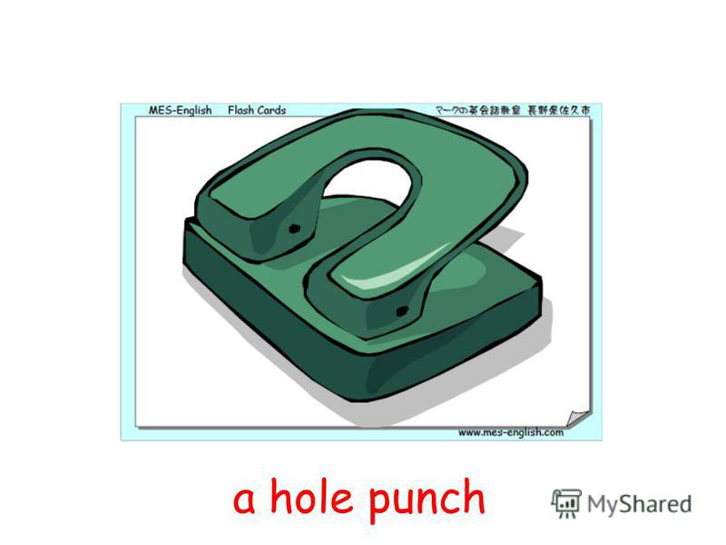 a hole punch