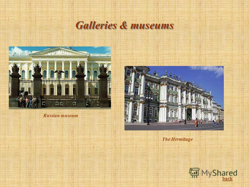 Galleries & museums Russian museum The Hermitage back