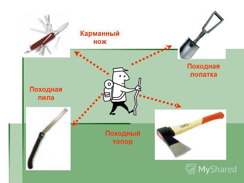 Карманный нож Походный топор Походная лопатка Походная пила