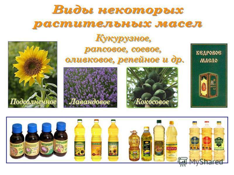 Подсолнечное масло один из основных продуктов питания, а так же выступает в качестве сырья для получения маргариновой продукции Масложировая промышленность также производит майонез, глицерин, мыла и моющие средства на жировой основе, олифы и некоторы