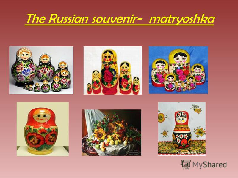 The Russian souvenir- matryoshka