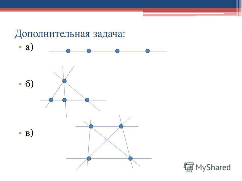 Дополнительная задача: а) б) в)