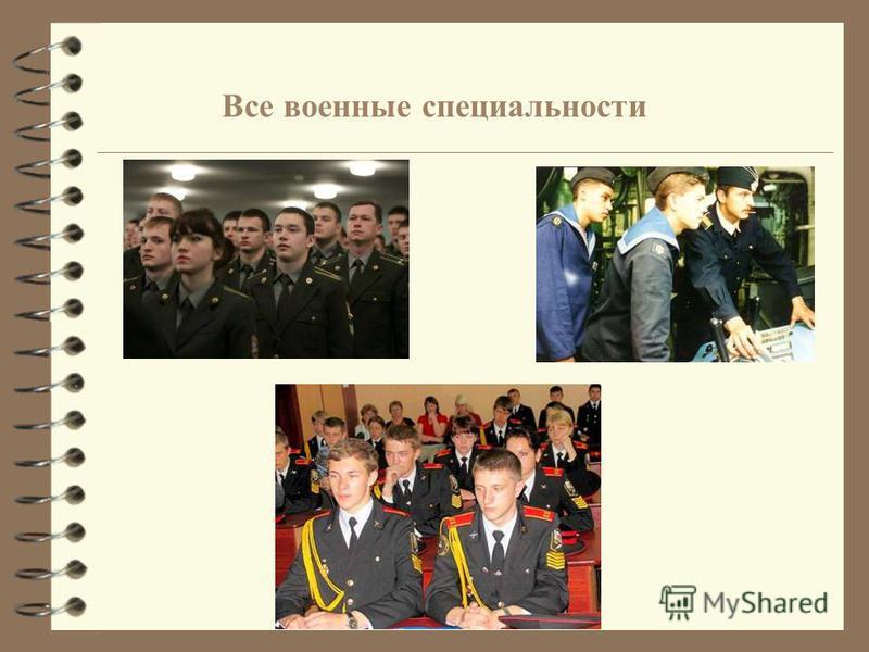 Все военные специальности