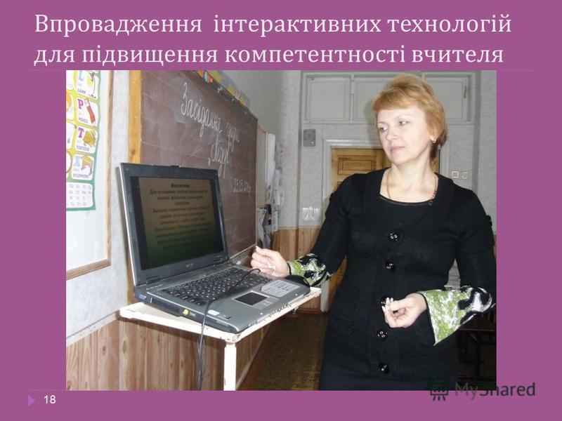 Впровадження інтерактивних технологій для підвищення компетентності вчителя 18