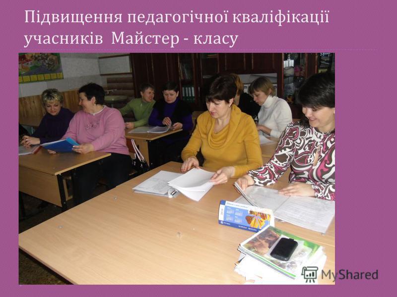 Підвищення педагогічної кваліфікації учасників Майстер - класу 19